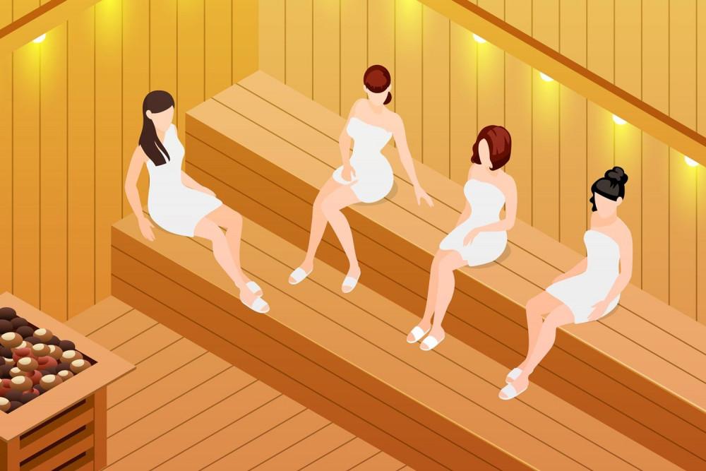 การอบซาวน่าหรืออาบน้ำร้อน